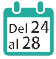 24 al 28 de septiembre