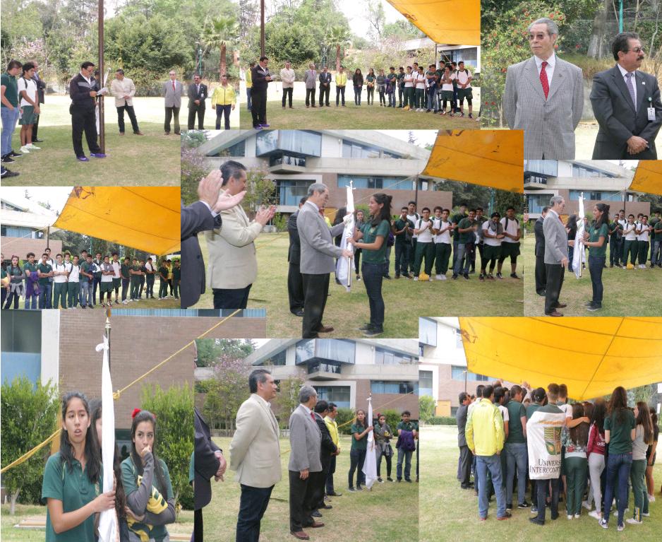 Ceremonia de abanderamiento para los equipos de Gansos Salvajes que jugarán en el Torneo Interprepas y en el Torneo Nacional de Conadeip