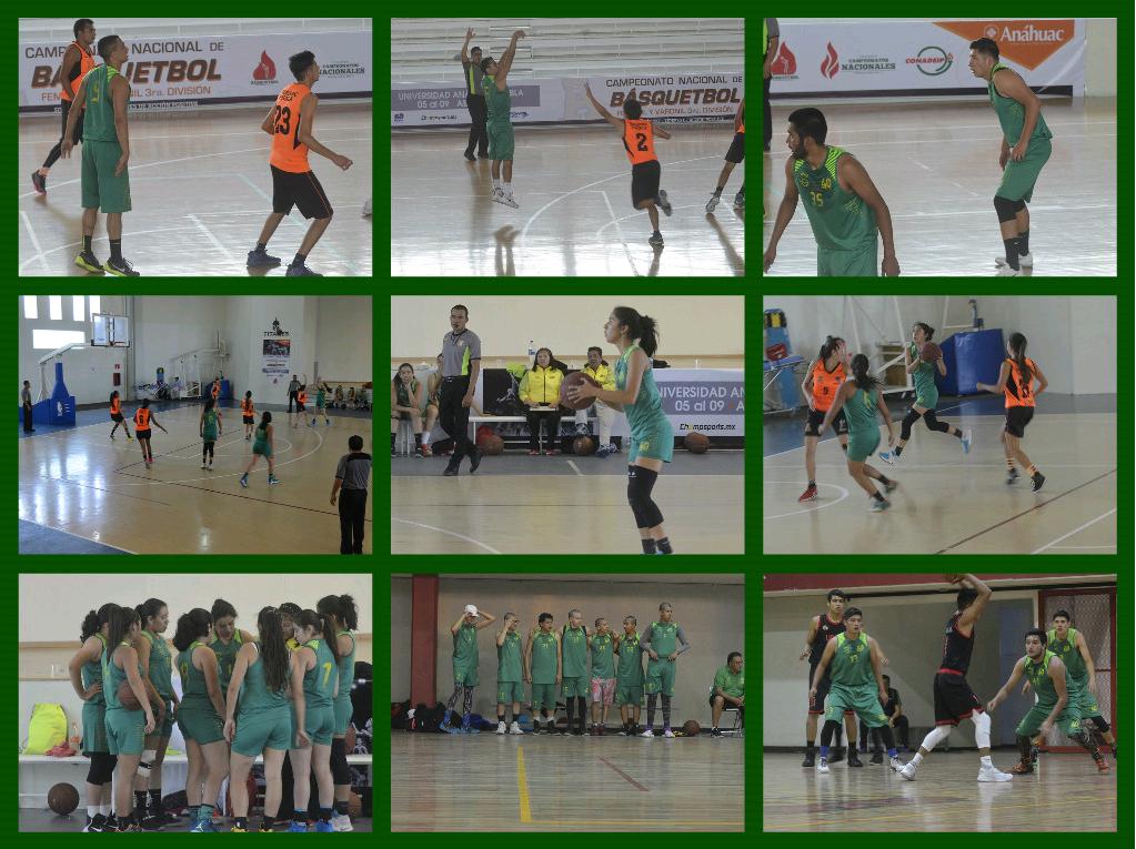 Nuestros equipos varonil y femenil de básquetbol iniciaron el Torneo Nacional de Conadeip consiguiendo la victoria