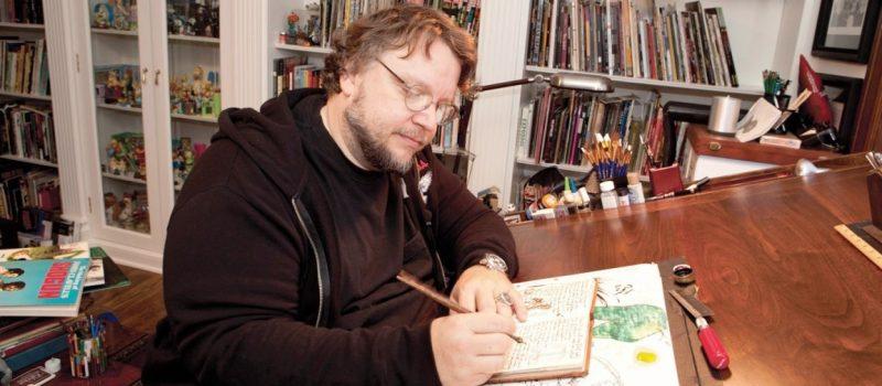 la clave del exito de guillermo del toro, guillermo del toro dibuja en su estudio, 148 KB, Guillermo del Toro