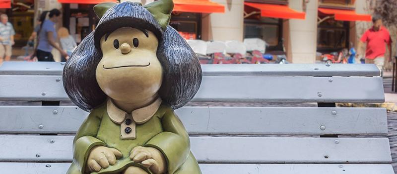 Para componer el mundo, tan sólo basta una niña, Mafalda, 115KB., Mafalda
